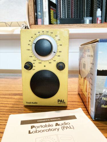 Yellow Tivoli Audio PAL by Henry Kloss Portable AM/FM Radio
