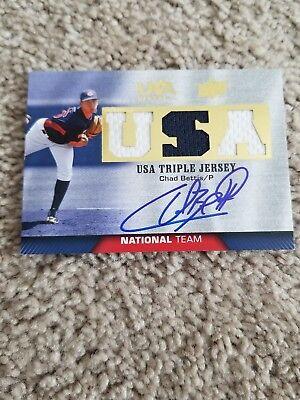 2009-10 USA Baseball National Team Jersey Autographs #CB Chad Bettis /149 image