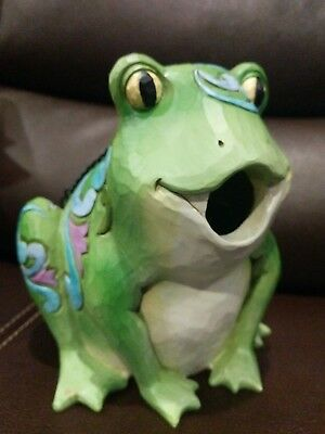 Jim Shore  FROG BIRDHOUSE Outdoor Living Collection EUC Toad