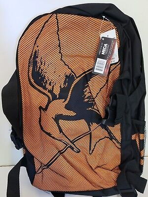 Hunger Games Mockingjay Orange Backpack Bookbag Katniss Everdeen District 12 NEW (Katniss Mockingjay)