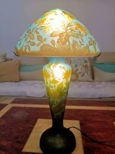 Very beautiful. BIG Emile Galle lamp