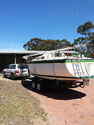 7.8 Flinders Sail Boat and Trailer Macclesfield Mount Barker Area Preview
