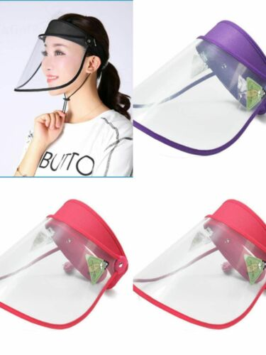 Full Face Protective Shield Clear Sun Hat shipped from NJ(black,blue,red,purple)