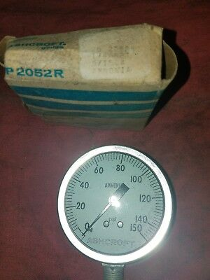 Ashcroft Vacuum Pressure Ammonia Gauge P2052r New Old Stock 0-150