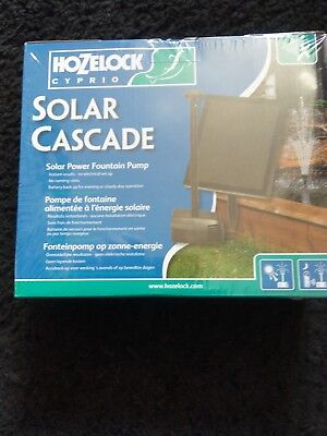 HOZELOCK CYPRIO CASCADE 300 SOLAR POWER GARDEN FISH POND PUMP New
