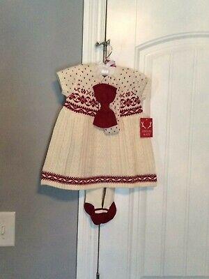 Jingles & Joy Infant girls 3 Piece Sweater Holiday Dress 3-6 Month New
