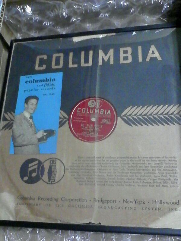 Frank Sinatra  autographed record
