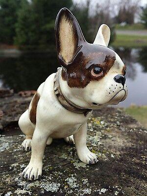 Rare Gort Vintage French Bulldog Bone China Dog Figurine Hand Painted Signed