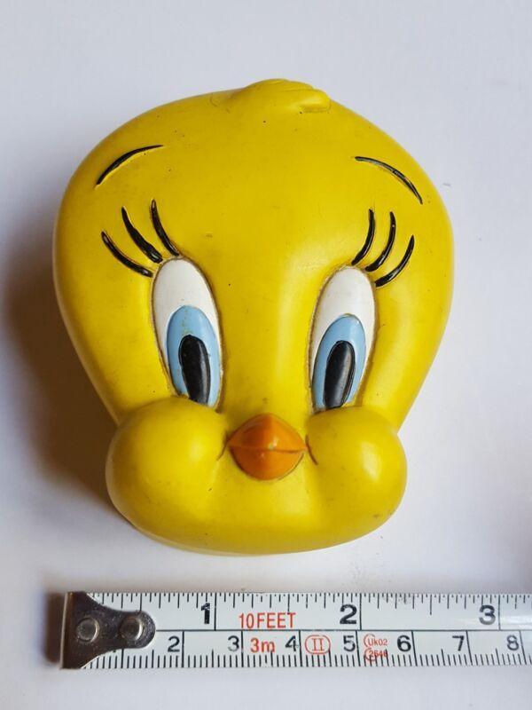 1996 VINTAGE Looney Tunes Tweety Bird Covered Trinket Box Warner Bros Tiny cute