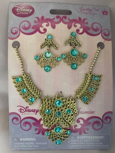 Disney Store PRINCESS JASMINE NECKLACE AND EARRINGS JEWELRY SET - Aladdin New!!