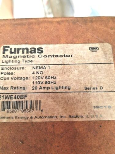 Furnas Electric Co 21we40bf Contactor In Type 1 Enclosure 4 Pole 20