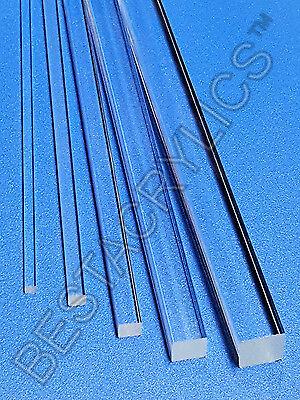 1 Pc 34 X 34 X 12 Long Square Clear Acrylic Plexiglass Lucite Rod .75 Inch