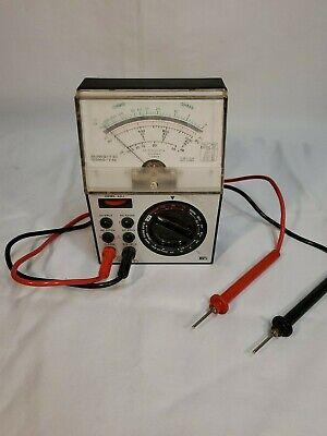 Radio Shack Vintage Micronta 22-202u Multitester Maltimeter W Probes