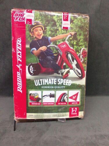 Photo Big Wheel Radio Flyer Tricycle Red Kids Bike Outdoor Ride Toy Chopper Boys Trike