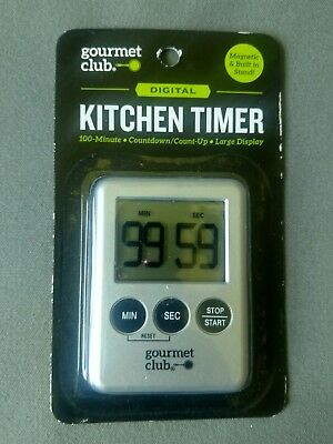 Digital Kitchen Timer - Gourmet Club - Large Display - SHIPS FAST