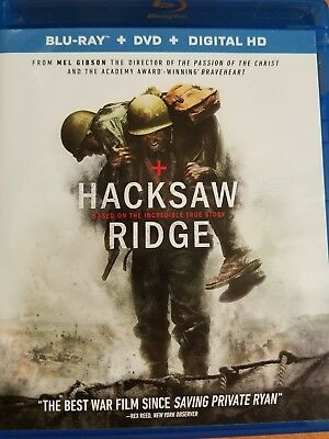 HACKSAW RIDGE, BLU RAY, DVD, DIGITAL HD, used for sale  Wattsburg