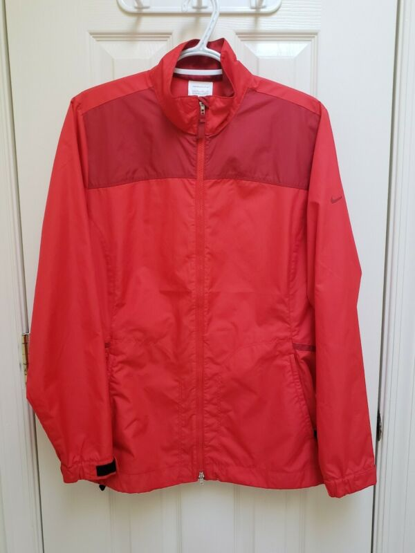 Nike Golf Womens Red Jacket  Lightweight Wind Resistant Size Large