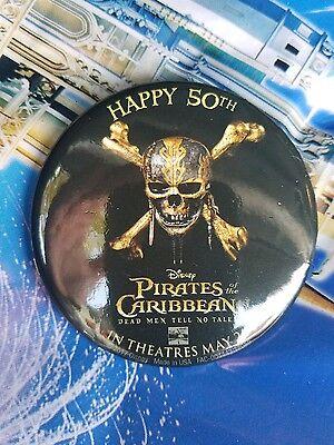 Disneyland DISNEY PARKS Pirates Of The Caribbean 50TH Anniversary  Button