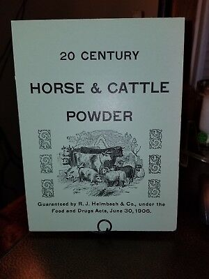 1906 R.J. Heimbach & Co. Horse & Cattle Powder Advertising Store Display Sign
