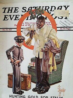 1937 Saturday evening post leyendecker art black man leyendecker art