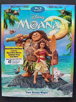 DISNEY MOANA(BLU-RAY+DVD+DIGITAL HD)W/SLIPCOVER BRAND NEW