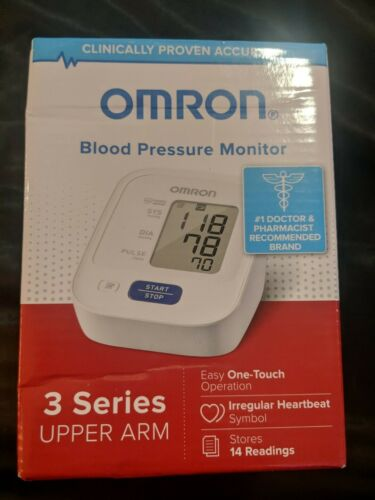 OMRON BLOOD PRESSURE MONITOR 3 SERIES UPPER ARM NEW BP7100 -
