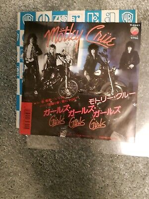 "motley crue   girls girls girls promo copy japan 7"" single excellent condition"