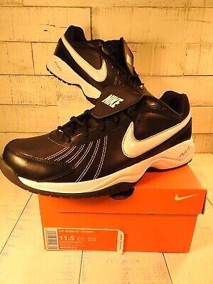 fffa2dbd13a18 ☄️Nike Air Diamond Trainer Baseball Turf Men s Size 11.5 Black White  333785-012