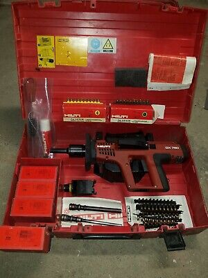 Hilti Dx750 Powder Actuated Nail Gun Ram Set Stamper With A Lot Of Extras