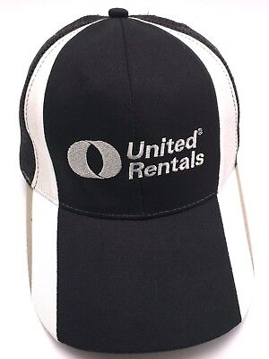 United Rentals Black   White Adjustable Cap   Hat