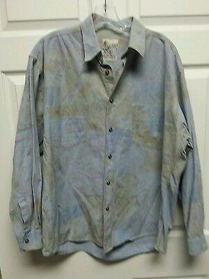 CASA MODA Mens Shirt Size XL Long Sleeve Pastel Blue Double Pockets