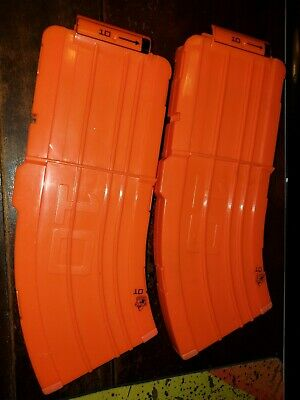 Lot of 2 Nerf Curved Banana Clip from Demolisher Elite N-Strike 10 Dart Magazine