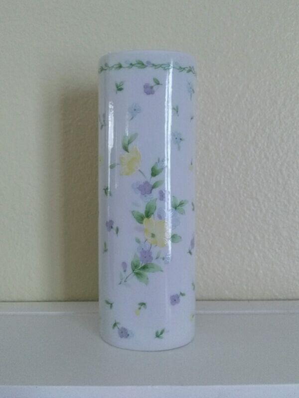 VINTAGE FTD Bud Vase FLORAL PORCELAIN 1993 HOME DECOR Made in Japan