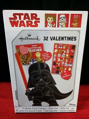 Star Wars Teacher (Star Wars 32 Valentines & Sticker Sheet + Teacher Card by Hallmark - New in)