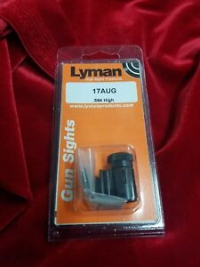 Lyman Tunnel 17 AUG Target Globe .584 Front sight New with discs