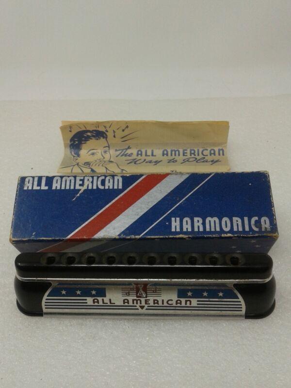 "Vintage All American Harmonica , Standard Tuning ""C"""