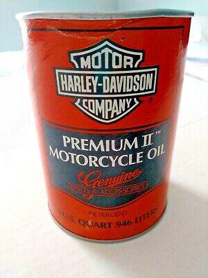 Vintage Harley Davidson Premium II Composite Motorcycle Oil Can NOS Heavy 60