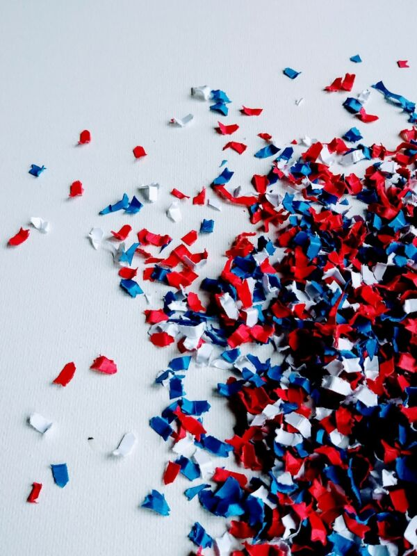 Patriotic Confetti Red White and Blue | Fourth of July Decorations | Birthday