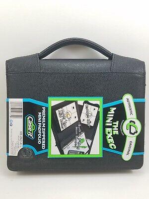 The Mini Exec. Premium Zippered Padfolio. Holds Mini Tablet Rotates 360 Black