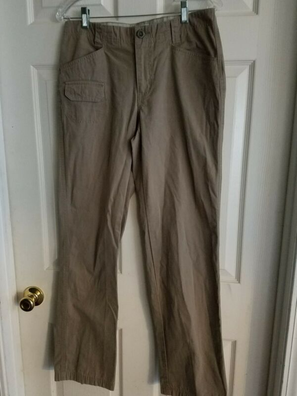 Columbia Sportswear Size 6 Womens Outdoor Hiking Cotton Long Pants ~ Light Olive