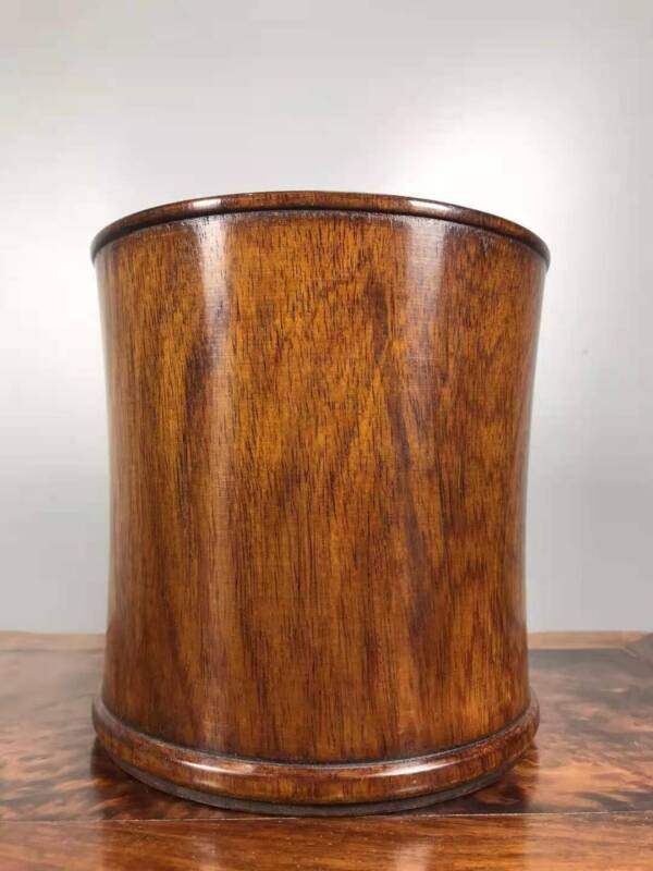Chinese Natural Rosewood Hand-carved Exquisite Brush Pot 4901