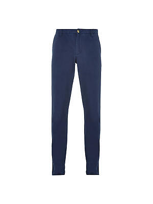 """HYMN LONDON - NEW - Turner Cotton Classic Chinos Trousers - Navy - W34 or 35"""" R"""