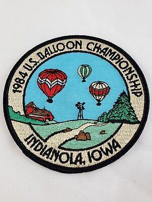 Vintage U.S. Hot Air National Balloon Championship Patch INDIANOLA IOWA IA 1984