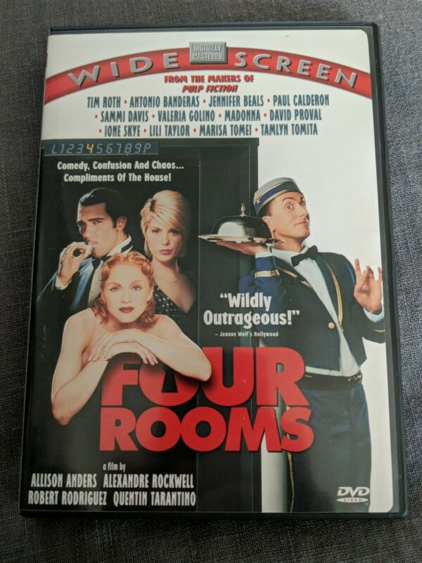 Four Rooms (DVD, 1999) Clean Working With Insert EUC
