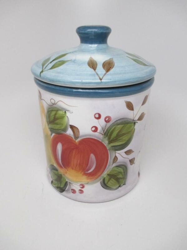 """Black Forest Fruits 8-1/2"""" Ceramic Pottery REPLACEMENT CANISTER Jar LARGEST"""