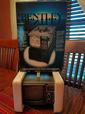 Vintage Bentley portable TV 100A - Battery Powered Analog TV WORKING!!