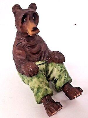 Bear Business Card Holder Decor Figurine Art Office Home Shop Desk Free Shipping