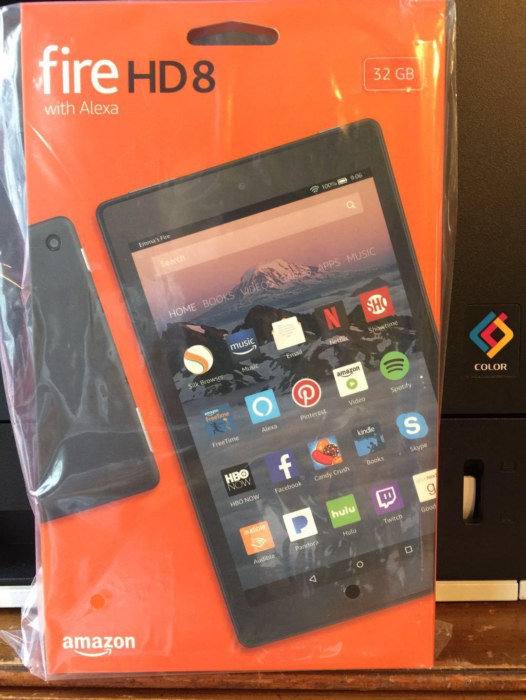 New Amazon Fire HD 8   32GB, Wi-Fi, 8In - Black W/ special o