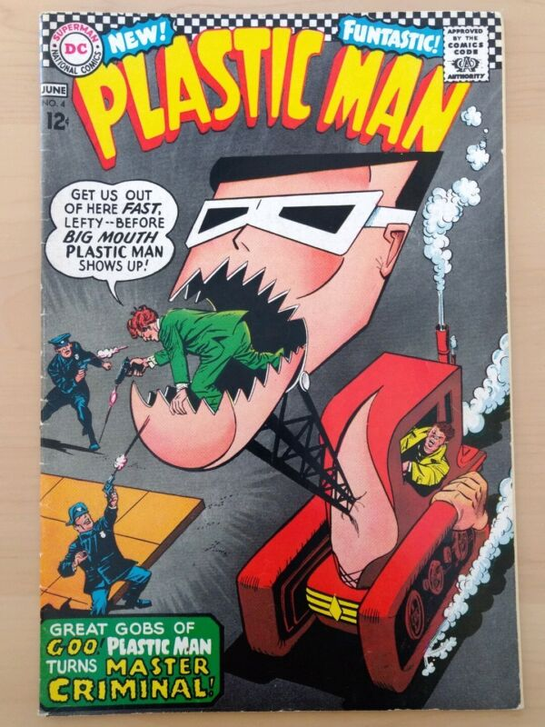 Plastic Man #4. DC Comics 1966. Fine