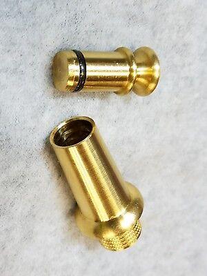 Black Horn Plug - Treso Black Powder Horn Spout & Plug Free Shipping Brass Water Proof USA NEW #11